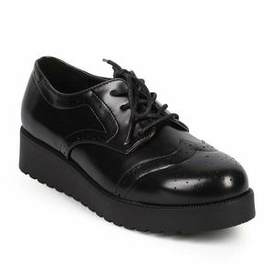 Wing Tip Rockabilly Creepers Flat Women's Shoes